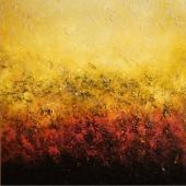 Golden Surface III., 90x90, oil on canvas, Kristina Sretkova Berlin 2015