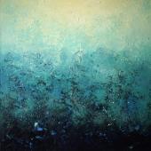 Blue Dream II., 90x90cm, oil on canvas, Kristina Sretkova Berlin 2015