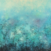 Blue Seascape, 116x89cm, oil on canvas, Kristina Sretkova, Cyprus 2015