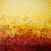 Fire of Love, 90x90cm, oil on canvas, Kristina Sretkova Berlin 2015