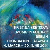 "2014 • BERLIN Solo Exhibition ""Music in Colors\"" • 04.03 – 17.06"
