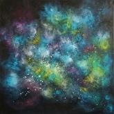 angels-90x90cm-mixed-media-and-oil-on-canvas-kristina-sretkova-2014-berlin