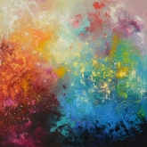 cosmic-shine-115x115cm-mixed-media-and-oil-on-canvas-kristina-sretkova-2013-berlin