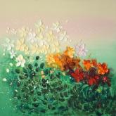 happy-flowers-ii-90x90cm-oil-on-canvas-kristina-sretkova-2013-berlin