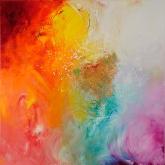 paradise-102x102cm-mixed-media-and-oil-on-canvas-kristina-sretkova-cyprus-2012