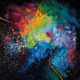 cosmic-love-90x90cm-oil-on-canvas-kristina-sretkova-2012-cyprus
