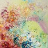 cosmic-joy-116x89cm-mixed-media-and-oil-on-canvas-kristia-sretkova-sofia-2014