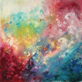 music-90x90cm-mixed-media-and-oil-on-canvas-kristina-sretkova-sofia-2013