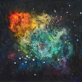 space-dew-i-40x40cm-mixed-media-and-oil-on-canvas-kristina-sretkova-berlin-2014