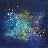 space-dew-ii-40x40cm-mixed-media-and-oil-on-canvas-kristina-sretkova-berlin-2014